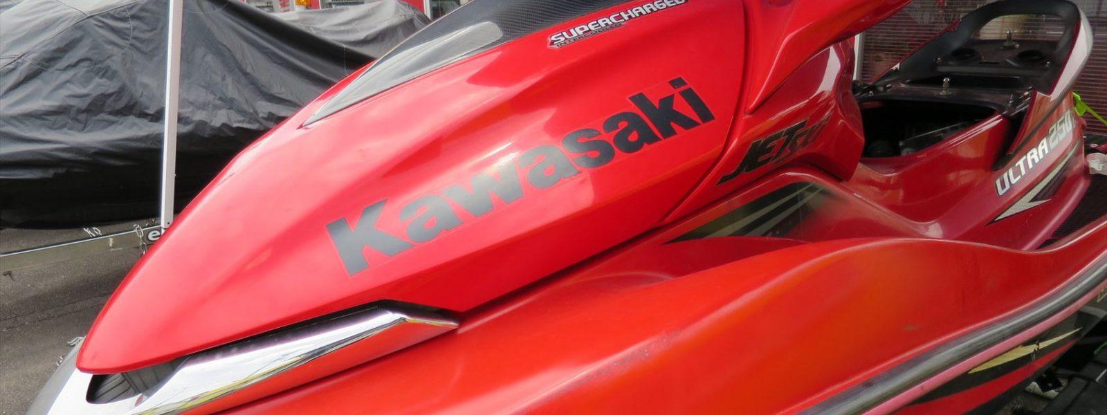 Kawasakiジェットスキーウルトラ250X スーパーチャージャーオーバーホール、ステアリング修理など!