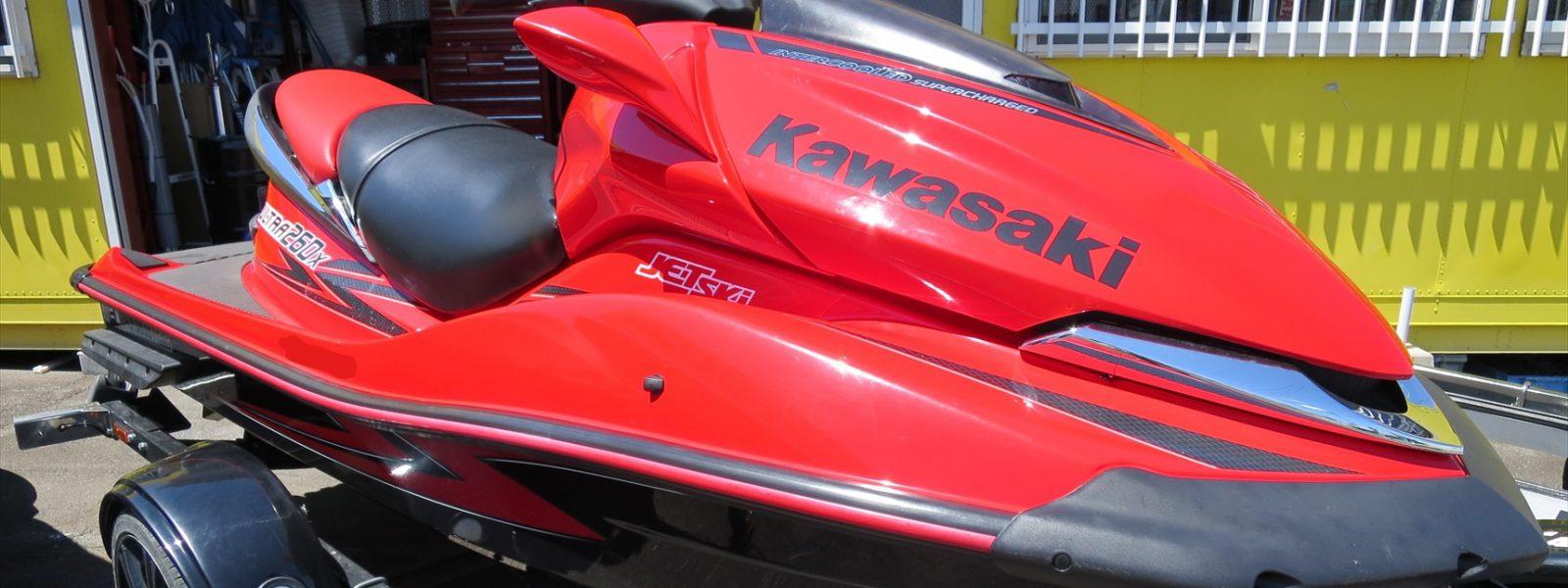 KawasakiジェットスキーULTRA260Xスーパーチャージャー修理など!